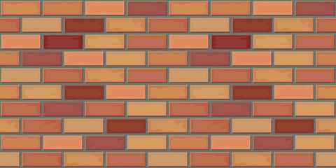 Brick texture. Laying of stone blocks. Seamless pattern. Vector illustration.