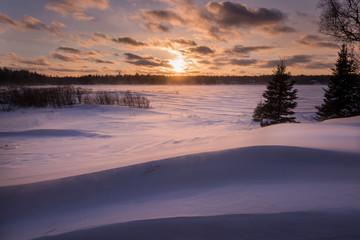 Heavy Snow Sunset