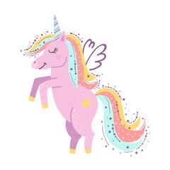 Cute little magical unicorn.