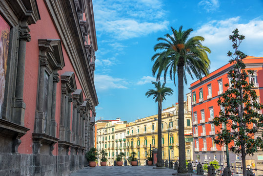 Colorful Architecture in Naples, Italy