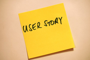 Scrum Agile Klebezettel User Story