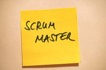 Scrum Agile Klebezettel Scrum Master