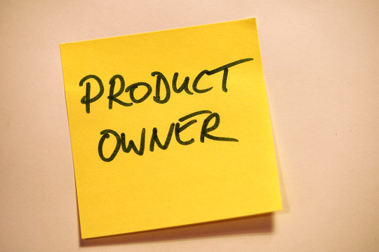 Scrum Agile Klebezettel Product Owner