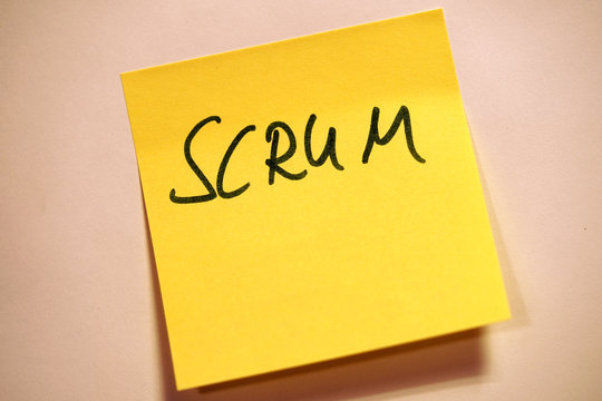 Scrum Agile Klebezettel Scrum
