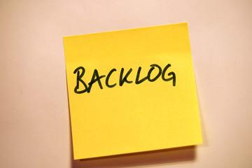 Scrum Agile Klebezettel Backlog