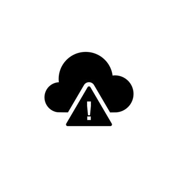 cloud warning icon. Element of weather illustration. Signs and symbols can be used for web, logo, mobile app, UI, UX