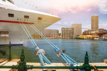 cruise ship at Sydney harbor