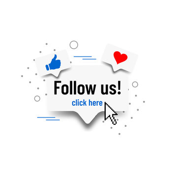 Follow us. Social media