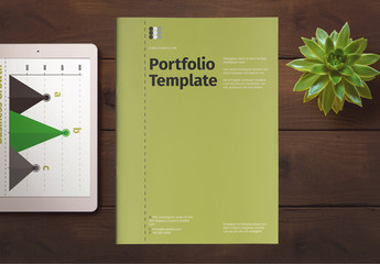 Portfolio Layout with Green Accents
