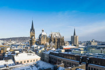 Aachen during Winter