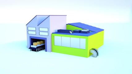 Fototapeta 3D Delivery Company
