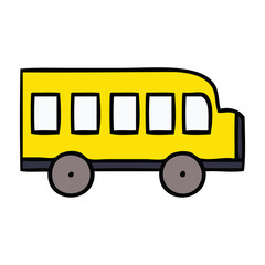cute cartoon school bus