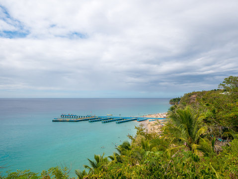 Crash Boat Beach and pier, Aguadilla, Puerto Rico, USA