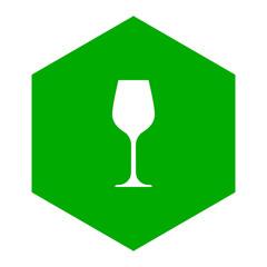 Weinglas und Wabe