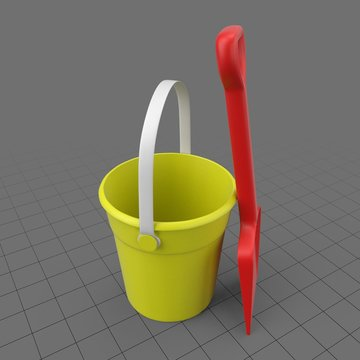 Beach bucket and shovel set