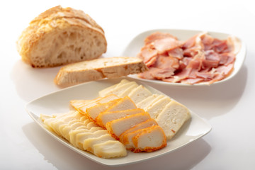 plate with different cheese