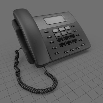 Modern button telephone