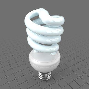 Fluorescent spiral bulb