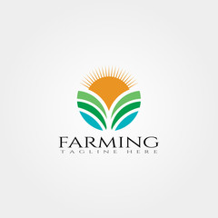 Farm icon template,creative vector logo design,Plantation,agriculture symbol,illustration element