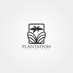 Plantation icon template,creative vector logo design,farm,agriculture symbol,illustration element