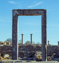Rock portal - ancient ruins in Philippi - Greece