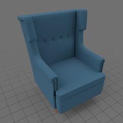 Modern fabric armchair