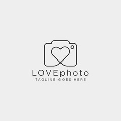 love photography logo template vector illustration icon element isolated