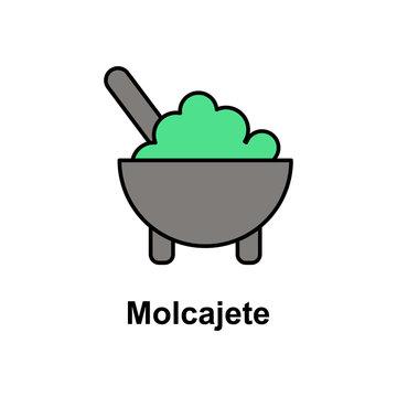 Molcajete, food icon. Element of Cinco de Mayo color icon. Premium quality graphic design icon. Signs and symbols collection icon for websites, web design, mobile app