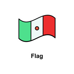 Flag, cinco de mayo icon. Element of Cinco de Mayo color icon. Premium quality graphic design icon. Signs and symbols collection icon for websites, web design, mobile app