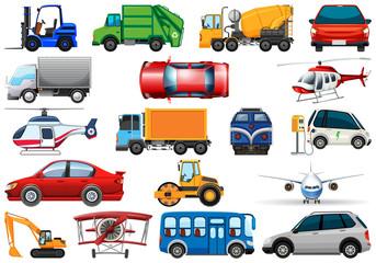 Set of different transport