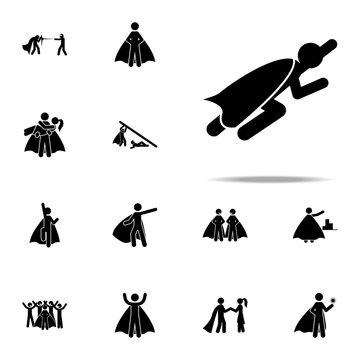 hero, flying icon. hero icons universal set for web and mobile