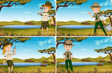 Set of park rangers