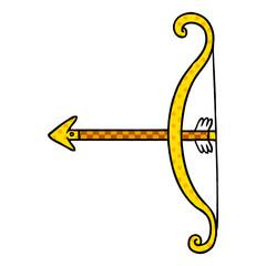 cartoon doodle of a bow and arrow
