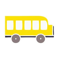 flat color retro cartoon school bus
