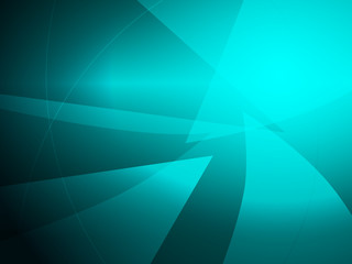 Abstract turquoise geometric shape design background