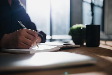 Fototapeta checklist and writer concept