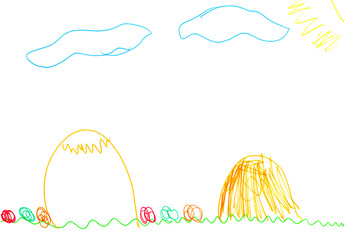 The Child's drawing