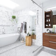 Contemporary Bathroom Integration (detail) - 3d visualization