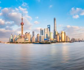 Fotobehang Aziatische Plekken The scenery of Shanghai Lujiazui at dusk