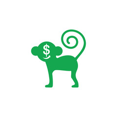 monkey business money symbol vector