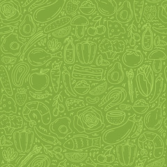 Custom blinds with your photo Healthy food seamless pattern