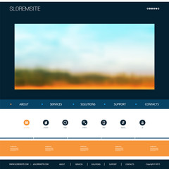 Website Design Template for Your Business with Blurred Natural Theme