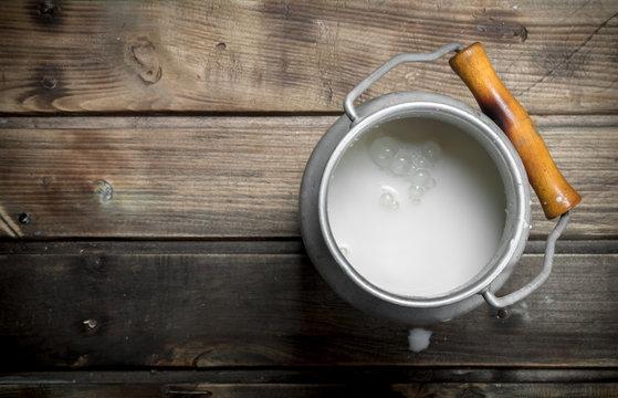 Fresh milk in a can.