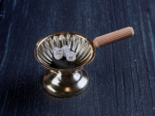 A simple Romanian orthodox censer or incense burner