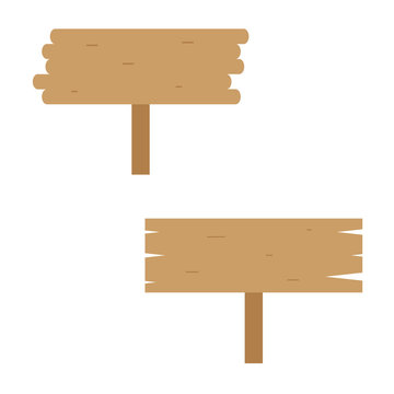 Two Empty Wood Boards Vector