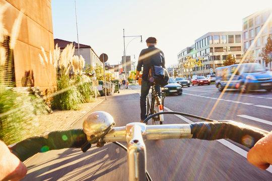Radfahrer Gefahr Fahrradweg Gegenverkehr