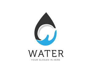 water drop care logo design inspiration