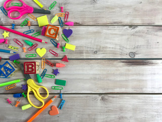 Back to School Supplies background. Photo image