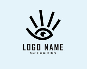 hand with eye logo design inspiration