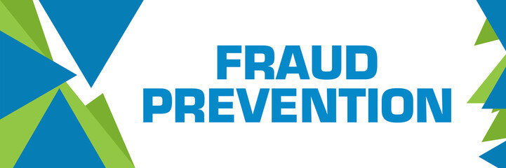 Fraud Prevention Green Blue Triangle Text